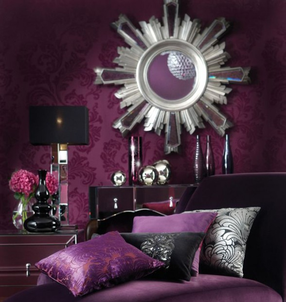 Purple interior designs living room home design ideas for Purple and green living room ideas