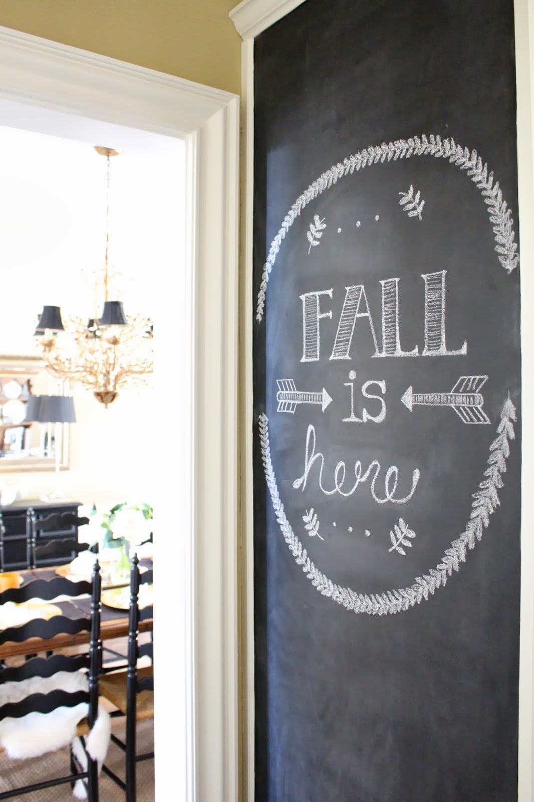 tiffanyd: kitchen chalkboard wall