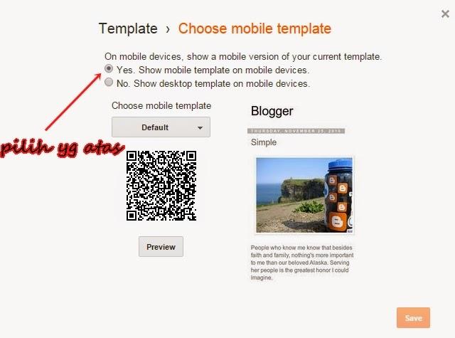 Cara Buat Blog  Mobile Friendly
