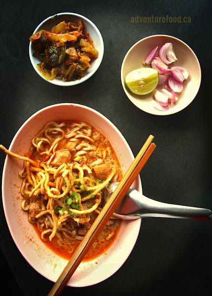 Khao soi noodle soup chiang mai thailand