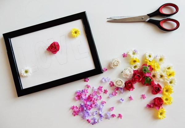 DIY : Mot en fleurs