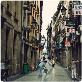The streets of San Sebastion