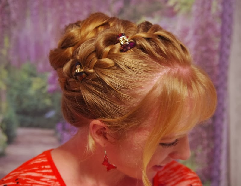 Braids & Hairstyles for Super Long Hair: Lazy-day French braid updo