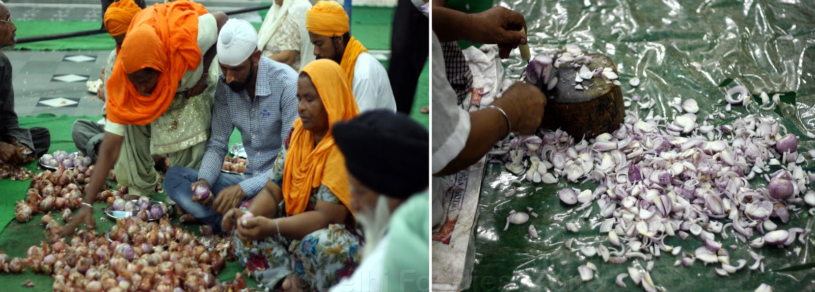 delhi foodies zone behind the scenes of golden temple langar onion chopping golden temple