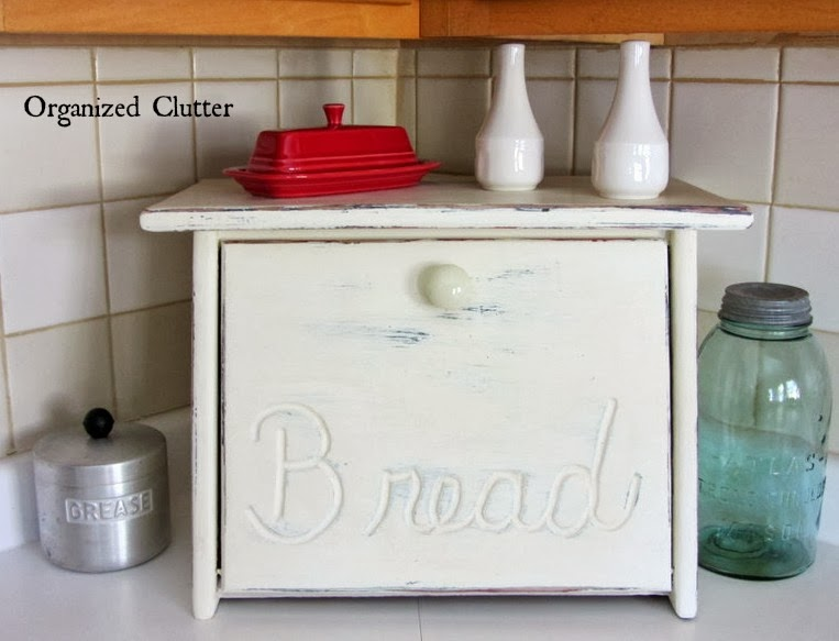 Countertop farmhouse decor www.organizedclutterqueen.blogspot.com