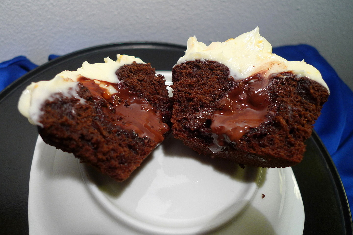 ... Chocolate Truffle Stuffed Cupcakes with Orange Cream Cheese Frosting