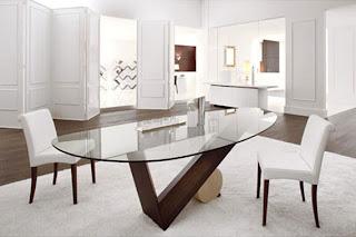 foto de mesa de vidro