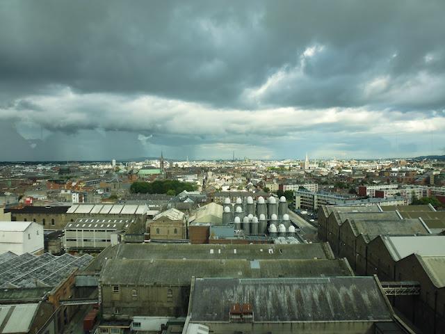 Vistas de Dublín desde el Gravity Bar