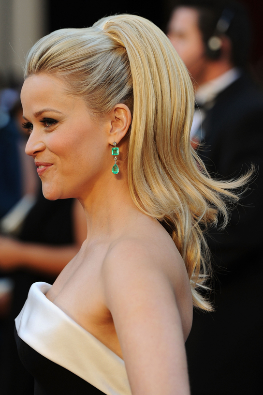 Reese Witherspoon Hair Updo Real Madid Vs Barecelona Finalty
