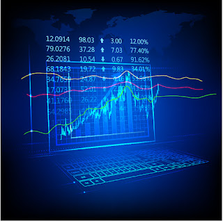 経済情報チャートの背景 Financial information chart イラスト素材