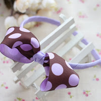 Purple polko dot hairband -- HA736 Price:RM18 per pc