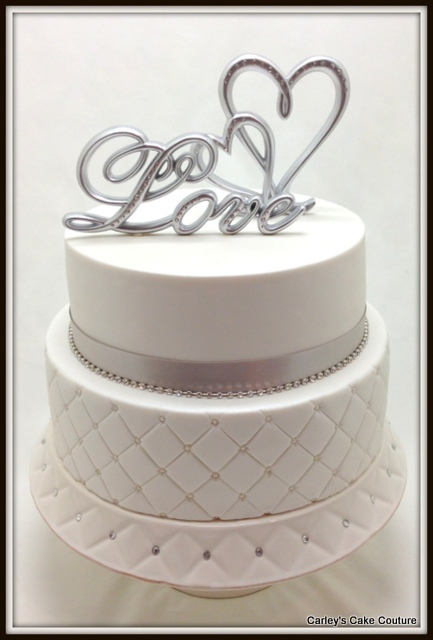 tier wedding cake quilt embossing