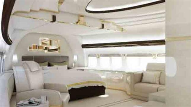 Las im genes de un boeing 747 convertido en mansi n voladora for Cama voladora
