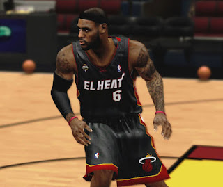 NBA 2K13 Miami Heat Latin Nights Jersey Logo Fix