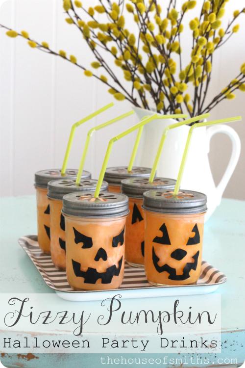 Fizzy Pumpkin Halloween Drink + Party Tips