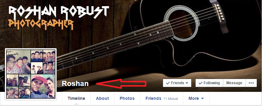 How to use single name on facebook profile 2015