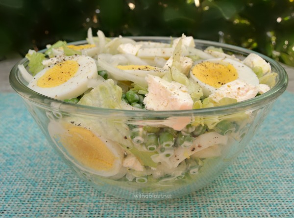 Pea Egg and Feta Salad