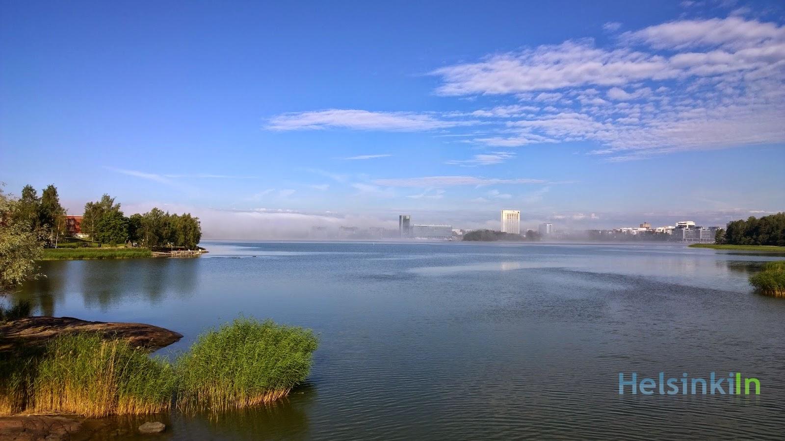 fog over Keilaniemi