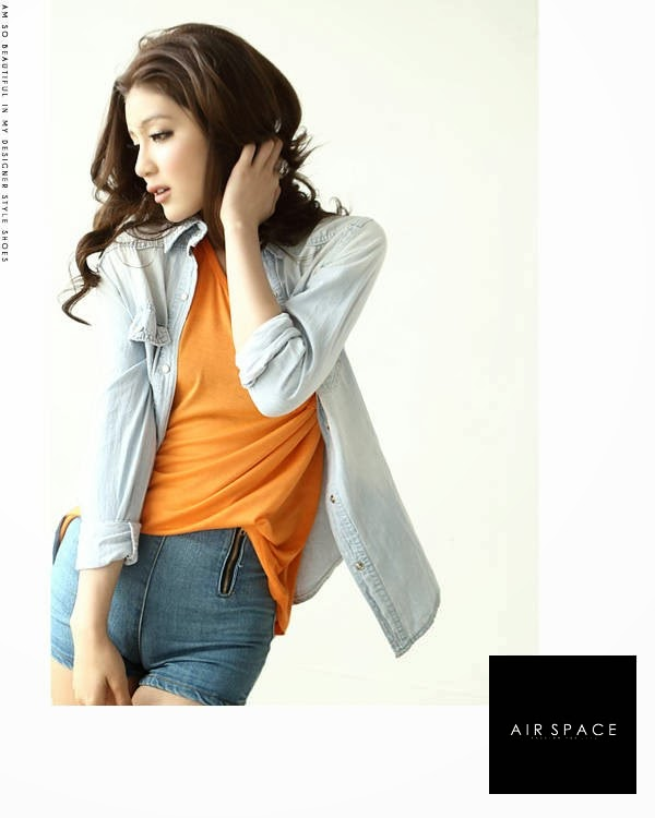 Denim Blouse Murah 112