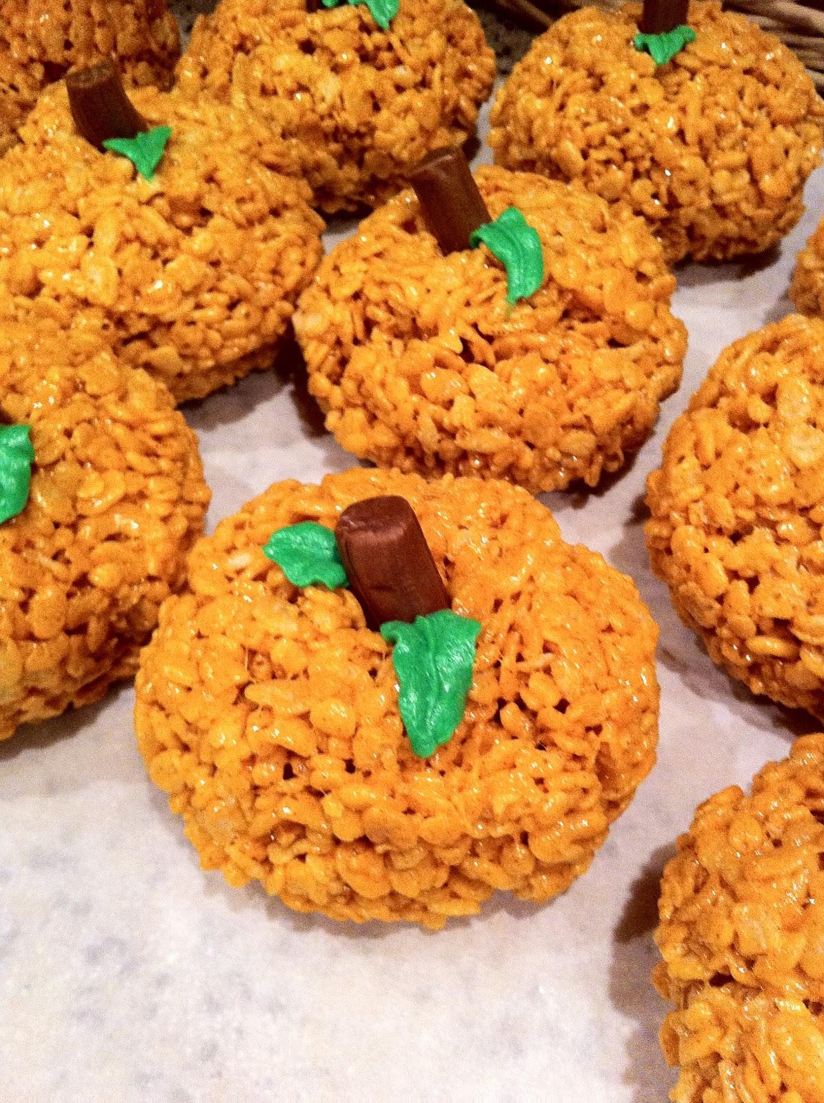 Cory and Jamie: Pumpkin Spice Rice Krispie Treat Pumpkins