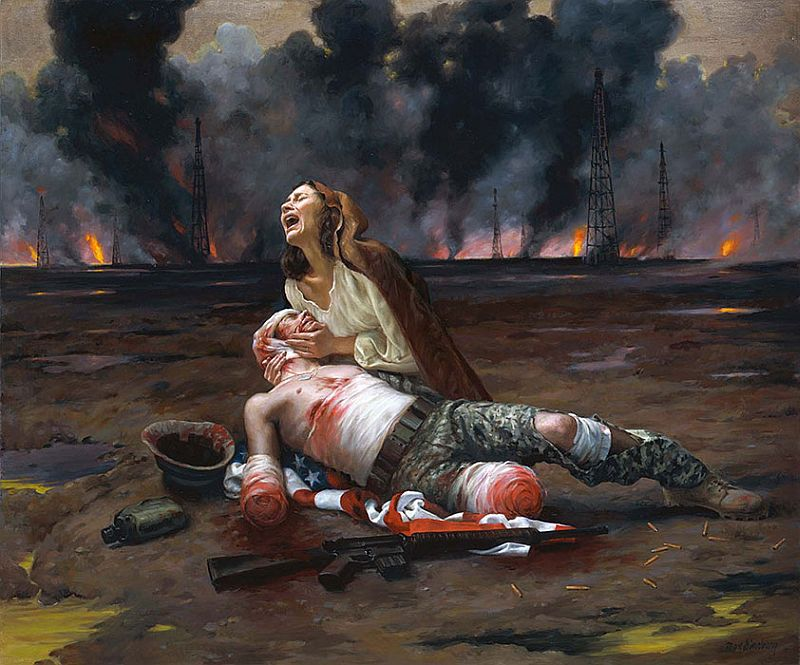 ===La guerra en la pintura=== 01-War%2BPieta%2C%2BOil%2Bon%2Bcanvas%2B50in%2Bx%2B60in%2B2007