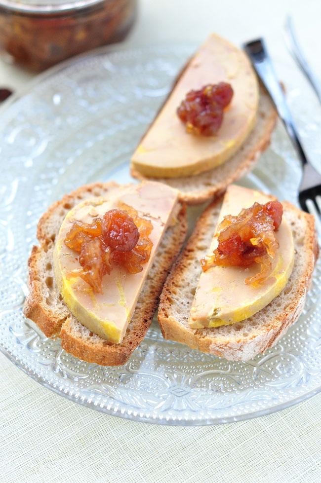 Ap ritif chic toast de foie gras chutney d endives stephatable - Dosage sel et poivre pour foie gras ...