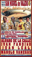 Manolo Vanegas, anunciado en el festival de San Miguel de Valero, el 01/10.