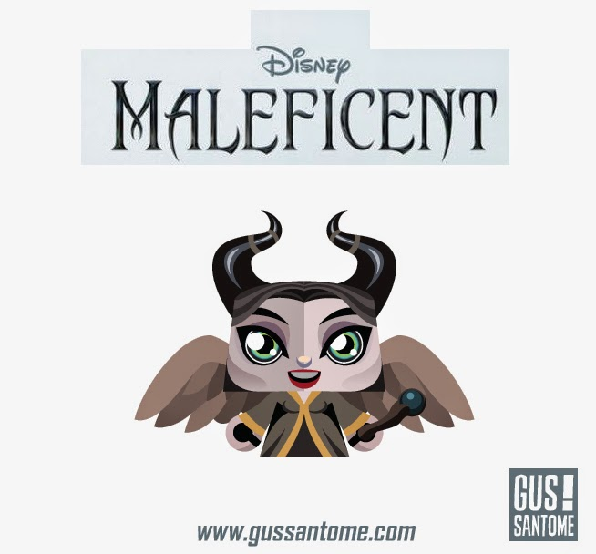 Mini Maleficent Papertoy