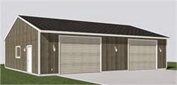 spacious two bay utility garage