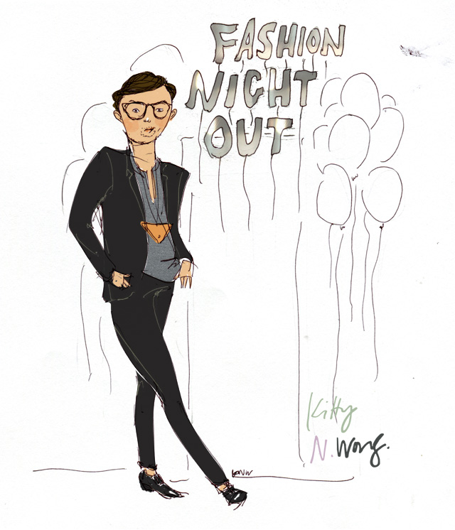 Kitty N. Wong / The Wanderlister fashion illustration