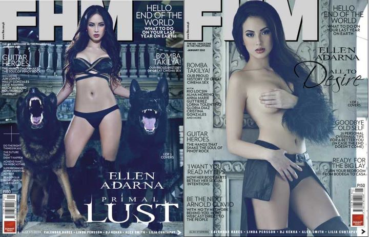 Ellen Adarna Covers FHM Philippines Magazine January 2012 Issue
