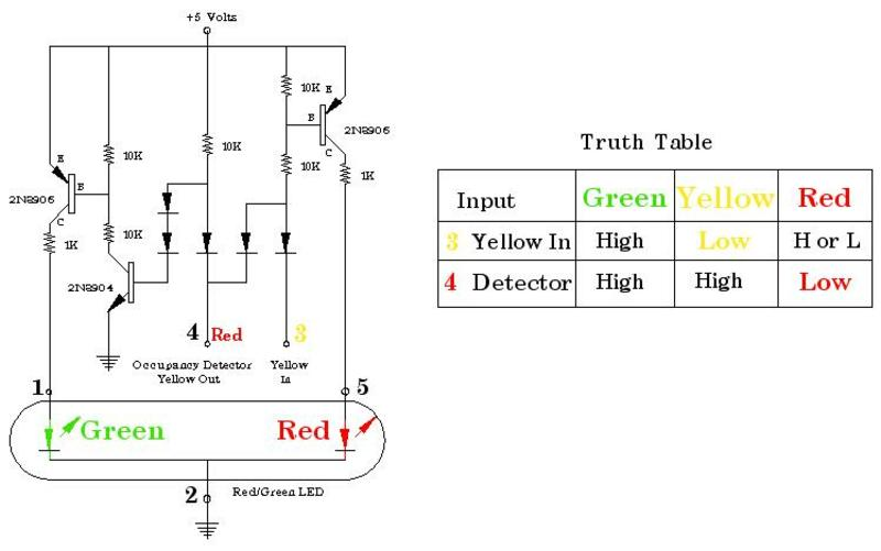my model railroad my block signaling system project page the circuit above is one section of the signal controller driver the drawing below is single section of the printed circuit board