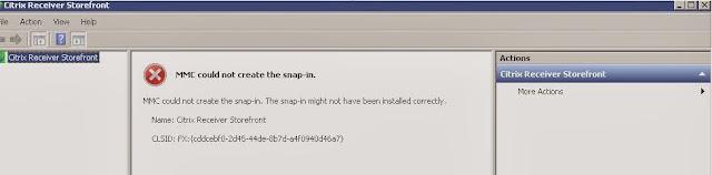 Storefront MMC crash