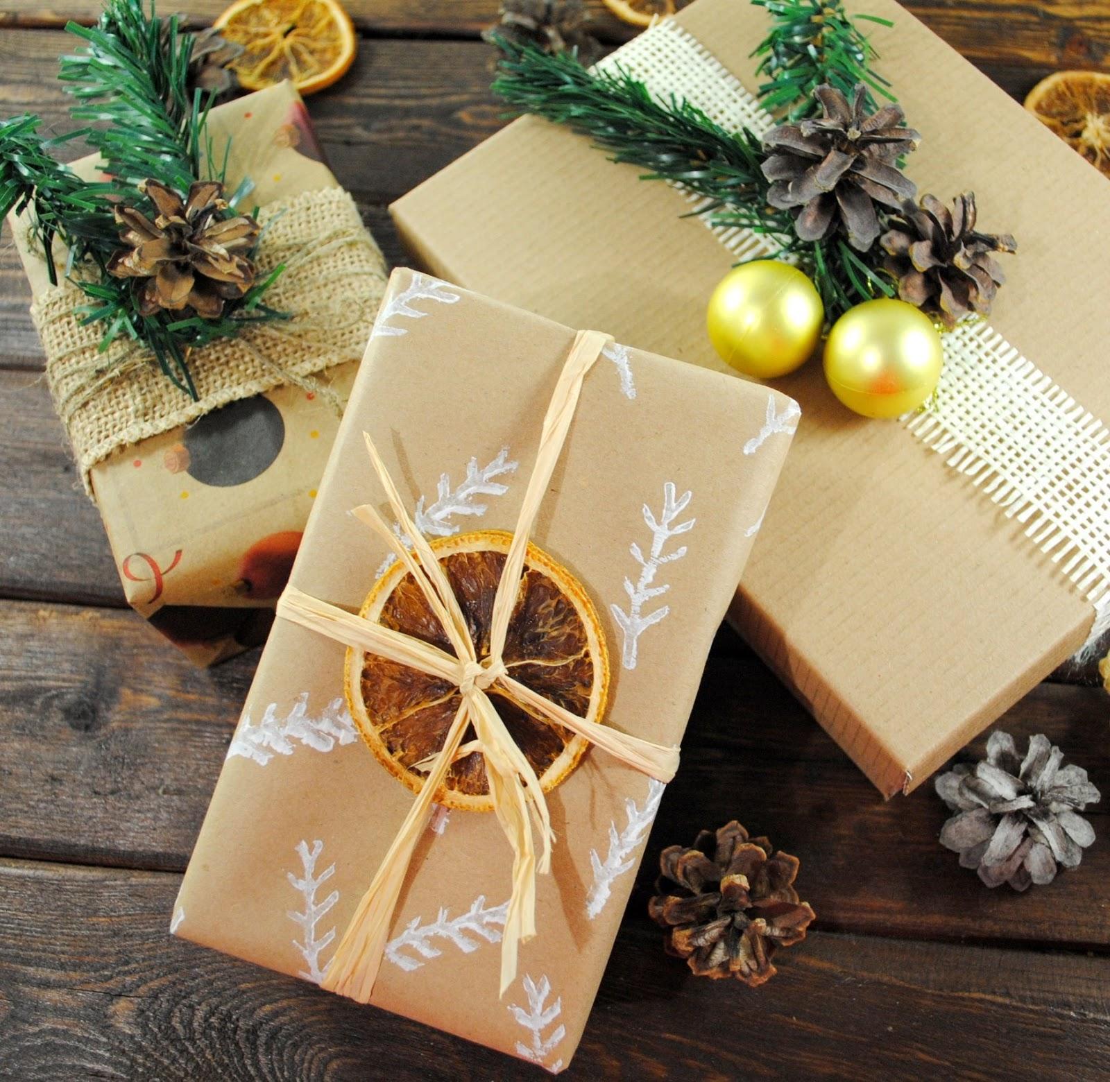 Упаковка подарка в крафт бумагу мастер класс 29