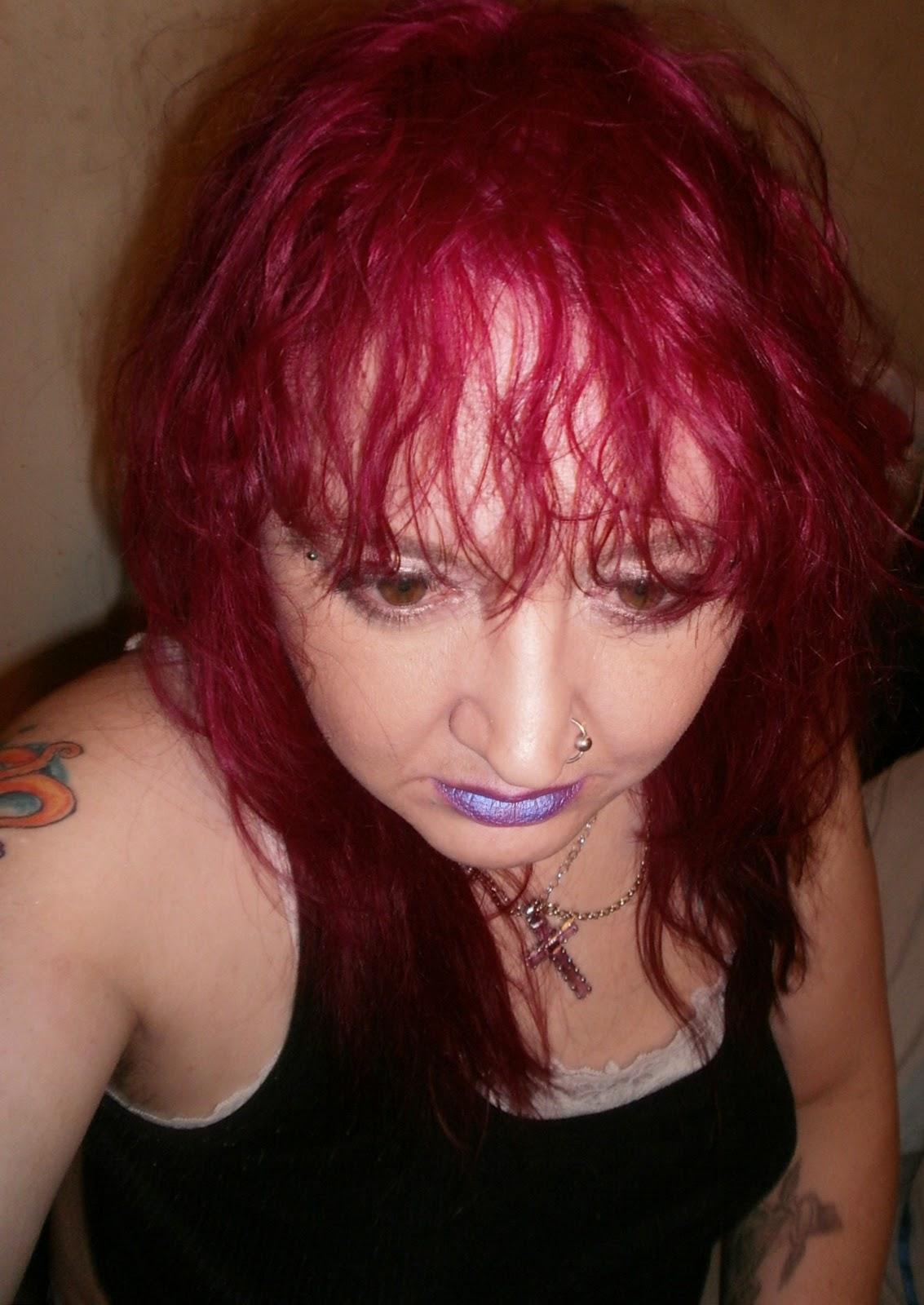 Dark red and black scene hair