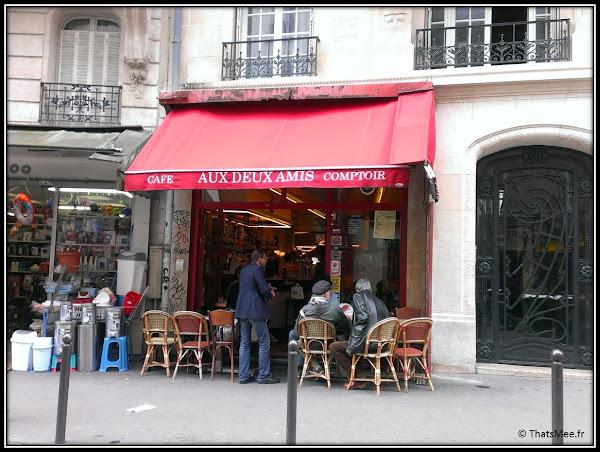 Resto Aux deux Amis 45 rue Oberkampf Paris 11 terrasse