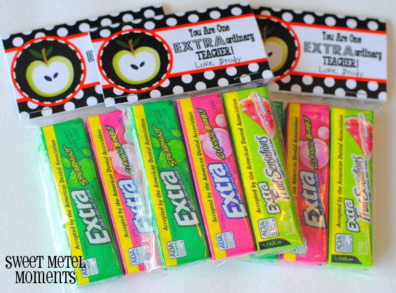 graphic about Extra Gum Teacher Appreciation Printable named Lovable Metel Times: Absolutely free Printable - Trainer Appreciation