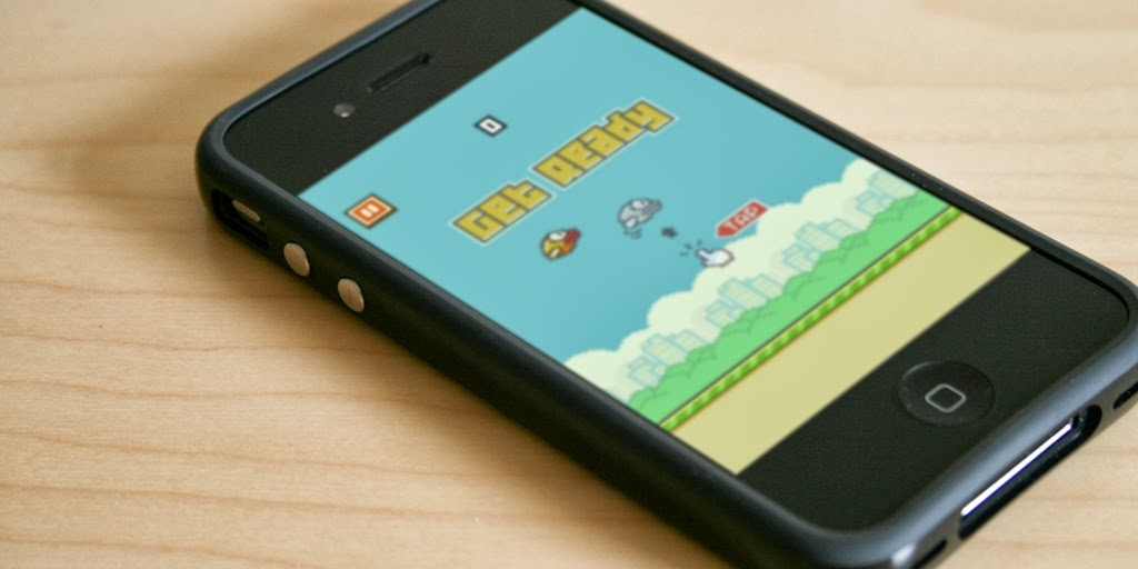 Flappy Bird - Fonte/Reprodução: http://www.dailydot.com/gaming/psychology-flappy-bird-addiction/