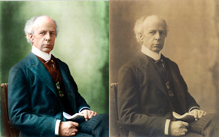 A colorized vintage photo of Sir Wilfrid Laurier by Chris Gardiner Photography www.cgardiner.ca