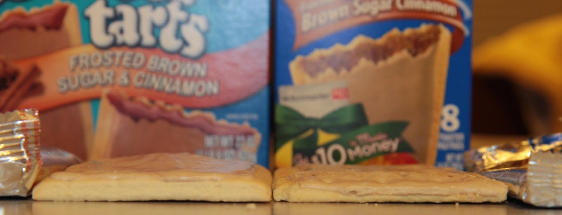 Aldi Millville Toaster Tarts vs. Kellogg's Pop Tarts Thickness
