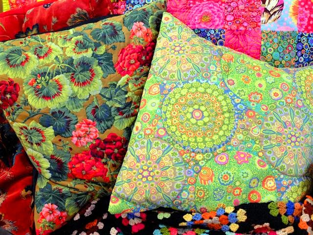 Hand quilted cushions