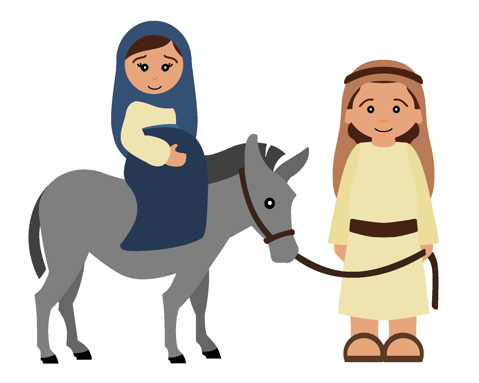 Coloring sheet mary and joseph bethlehem - He