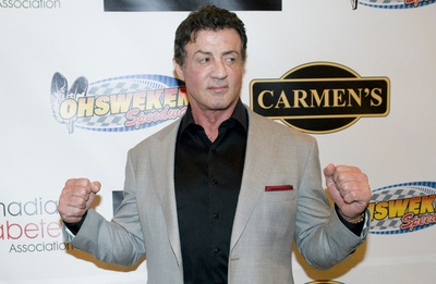 Sylvester Stallone em evento Beneficiente