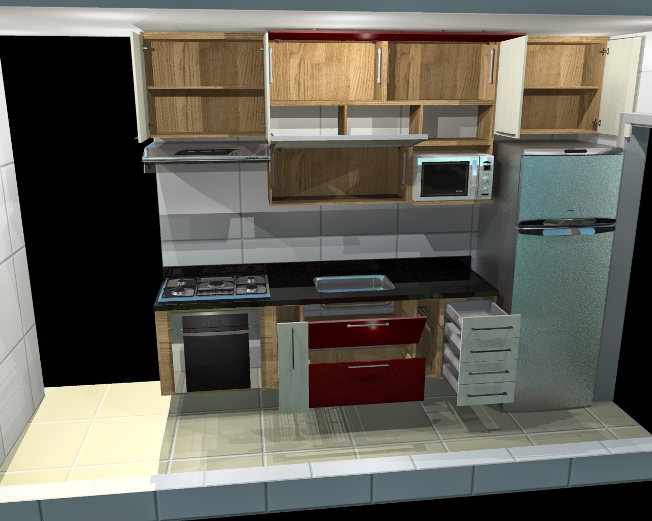 #8B6B40 Móveis da Praça: Cozinhas planejadas para Apartamentos Pequenos 1280x1024 px Projetos De Cozinhas Planejadas Italinea #709 imagens
