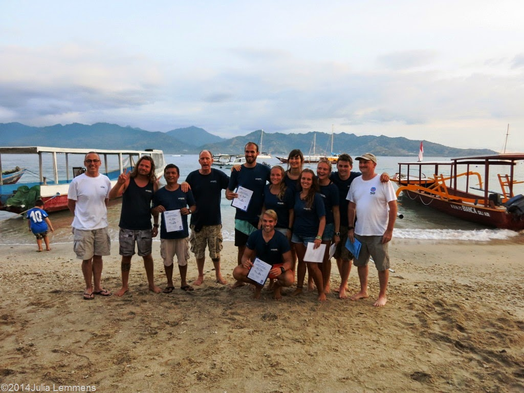 PADI IE May 2014 on Gili Air in Indonesia