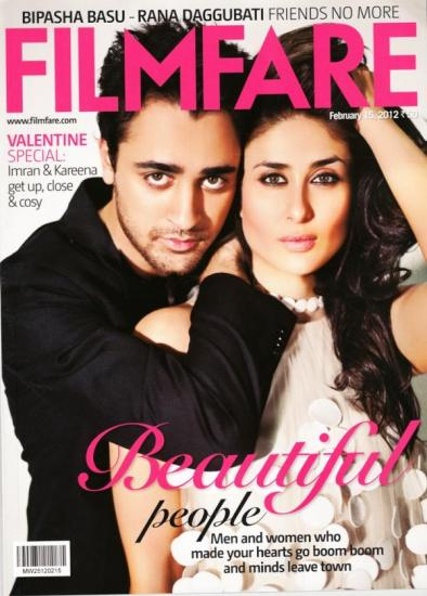Kareena Kapoor with Imran on filmfare cover1 - Kareena, Imran Filmfare magazine Cover
