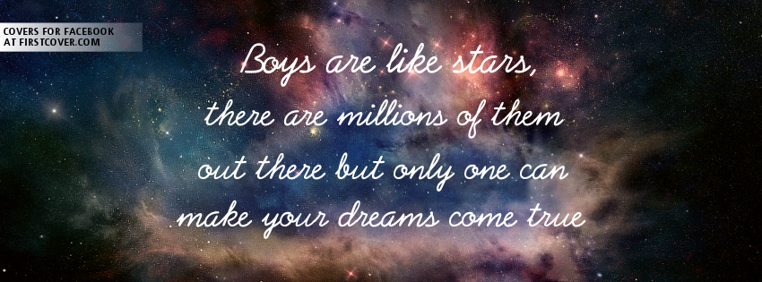 Boys Are Like Stars Profile Facebook Covers | Facebook Covers, FB ...