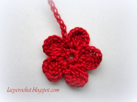 Lacy Crochet: Crochet Thread Flower, Photo Tutorial