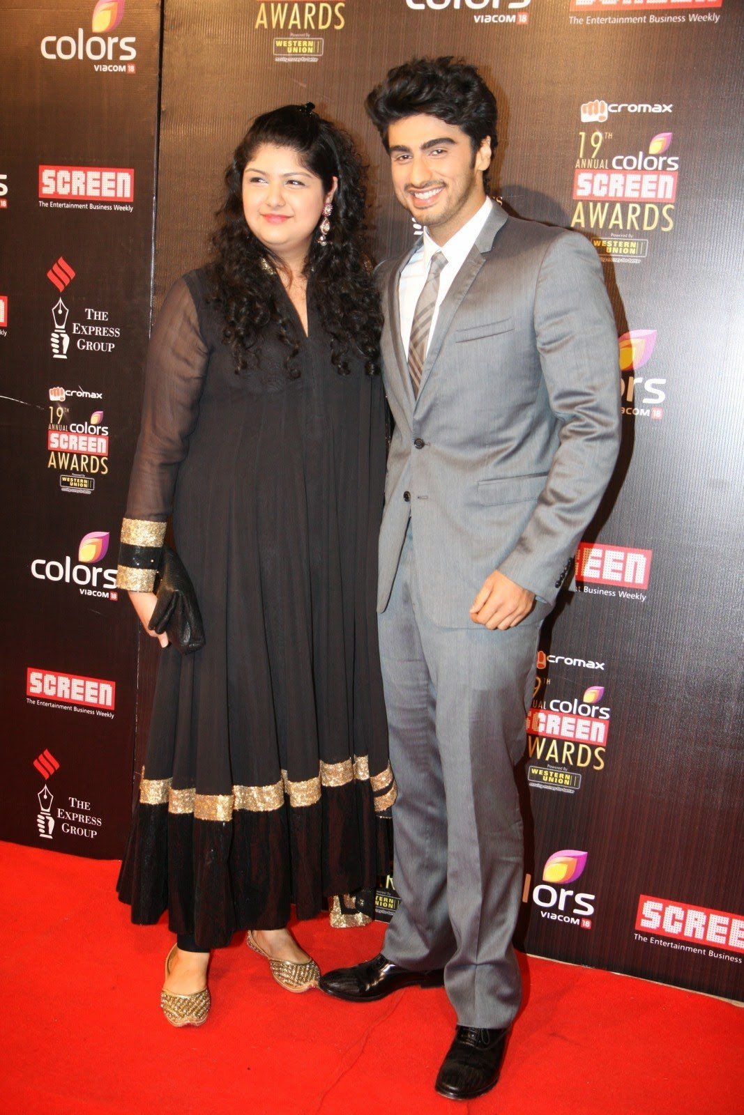 ;Arjun Kapoor with Sister