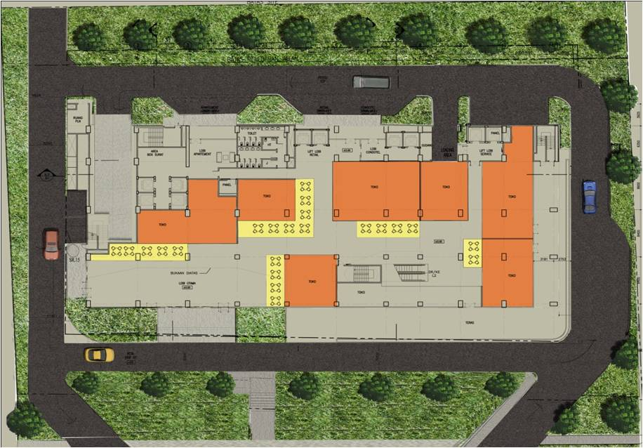 Site plan the hive tamansari apartment for Apartment plans for 60x40 site